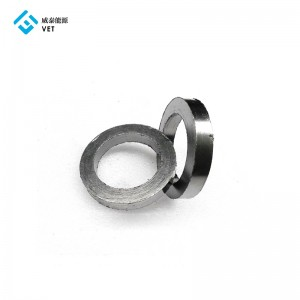 Flexible extruded graphite ring for machine sealing, for air compressor