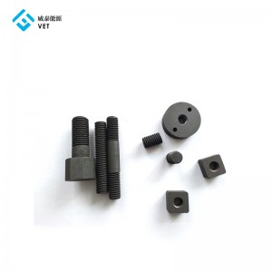 Graphite nuts for vacuum furnace