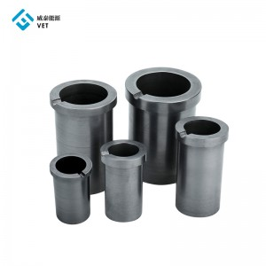 Customized graphite crucibles for sale melting cast iron
