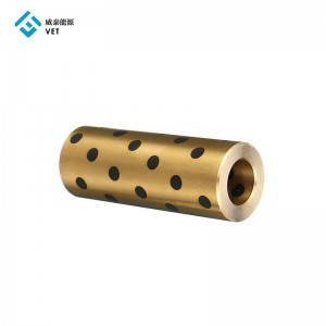 Linear Bearing Oil Free Bushing Round Graphite Copper Sleeve Slide Bearing
