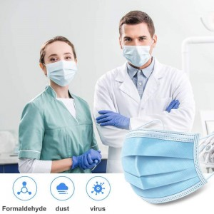 Non Woven Disposable Face Mask,3 Layers Anti-Dust Face Masks,Ear loop Mouth Mask