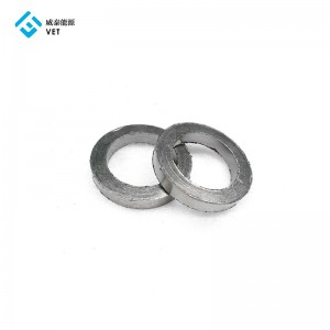 Pure flexible graphite /carbon ring or sleeve for mechanical valves sealing