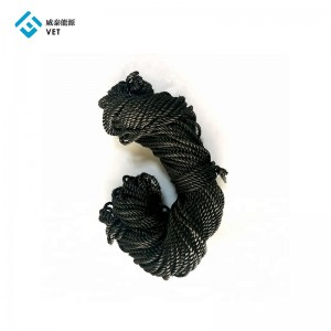 High Strength Graphite/Carbon Fiber Rope for Sealing & Thermal Insulation