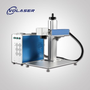 Big Discount Raycus 50w Split Cyclops System Ccd Fiber Laser Marking Machine For Engraving Qr Code On Plastic And Metal