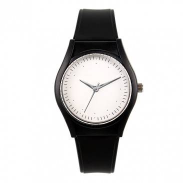 VT-P1902 Factory OEM Custom Super Slim Men's Black Fashion Analog Plastic Wrist Watch