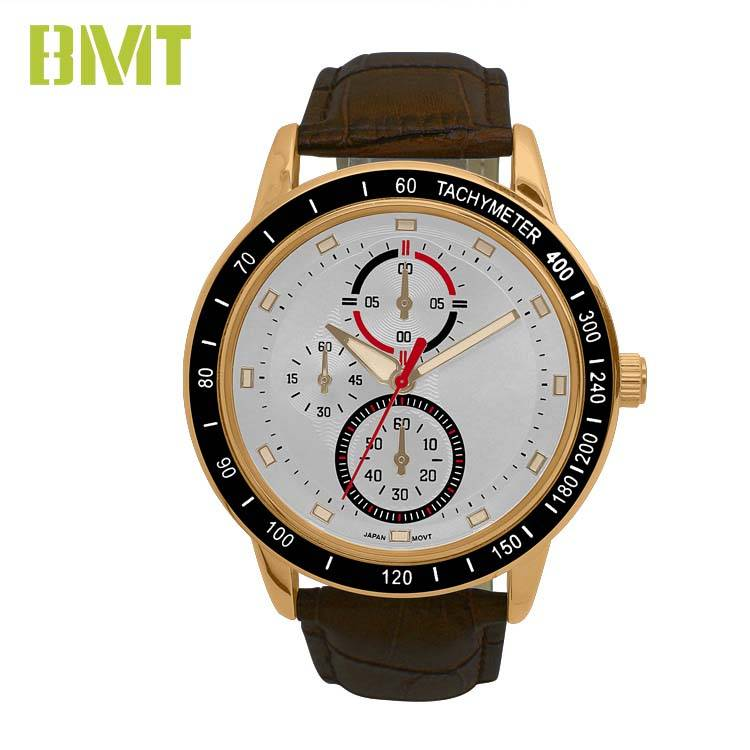 Discount wholesale Leather Strap Men Watch -