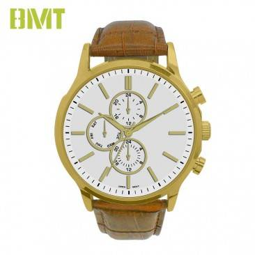 VT-S1918 BMT Trendy Quartz Movt Leather Strap Watches Men