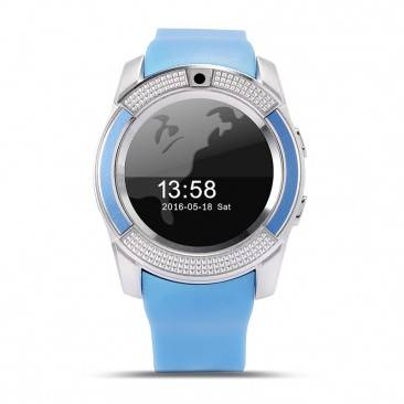 Factory Hot Selling Fitness Sports Pedometer Smart Watch Phone With Camera For IOS/Android VT-V8