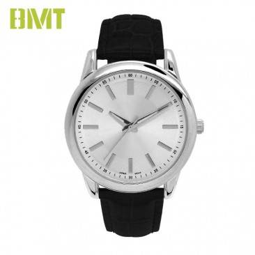VT-S1907 Watch Manufacturer Custom Genuine Leather Strap Alloy Watch