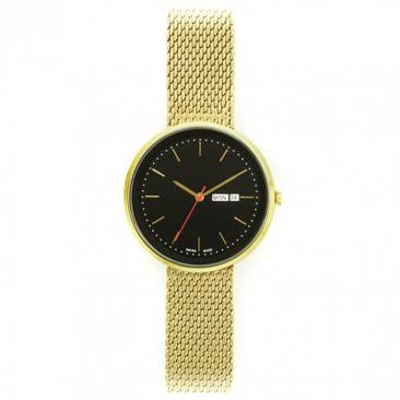 VT-S3018L women-gold-round-steel-mesh-band-watch