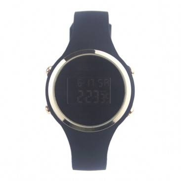 Fashion Silicone Ladies Black Screen Digital Jelly Watch VT-SW1702