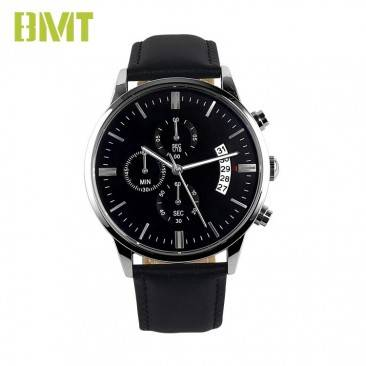 VT-LS1901 Men Leather Strap Japanese Quartz Chronograph Watch with date function