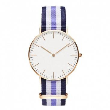 VT-N1415L Women Fashion Slim Nylon Fabric NATO Band Watch