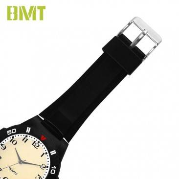 VT-PW1002 Direct Factory OEM Analog Quartz Plastic Men Black Sport Watch