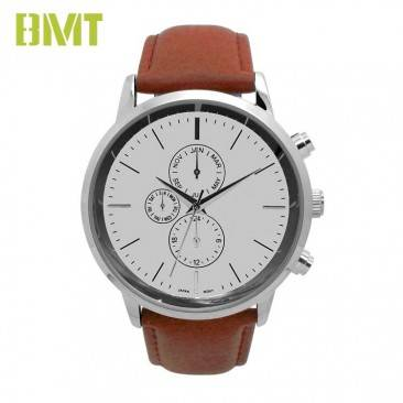 VT-S1911 Watch Manufacturer Custom Black Leather Strap Quartz Watch Men