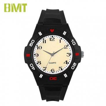 VT-PW1002 Factory Direct OEM Analoxía de cuarzo Plástico Homes Black Watch Deporte