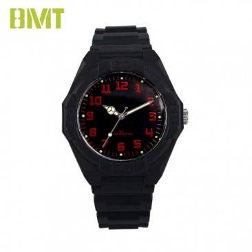 OEM Your Own Brand Men's Black Resin Band Sport Watch VT-P1009