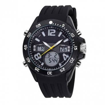 VT-AD1001 Cool Sport Big Case Silicone Rubber Band Swiss Analog digital Men Watch