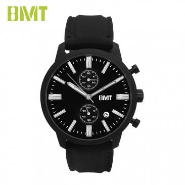 VT-S1932 Fashion Luxury Silicone Rubber Strap Swiss Chronograph Carbon Watch Men