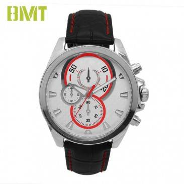 factory Outlets for Genuine Leather Fashion Watch -