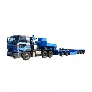 Personlized Products Tracked Vehicle Transporter - Gooseneck lift,5 axle,heavy duty-Follow-up steering – Vulcan
