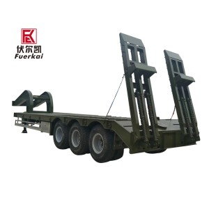 Hot-selling Flat Bed Excavator Truck - 2-axles-3-axle-lowboy-semi-trailer – Vulcan