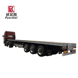 Factory wholesale 3 Axles Semi Trailer - 20ft 40ft container semi trailer – Vulcan