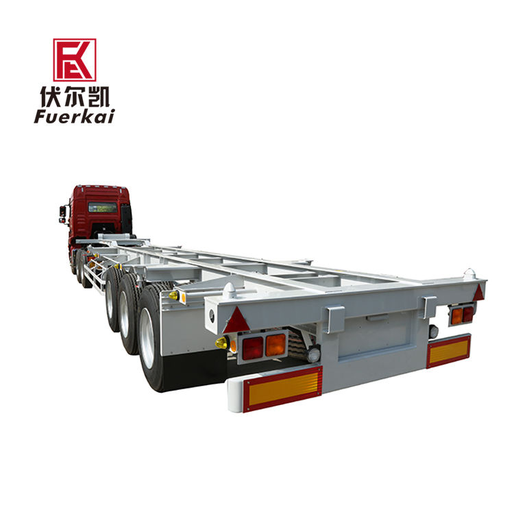 Personlized Products Skeleton 40ft Chassis - 20-50ton container semi trailer – Vulcan detail pictures