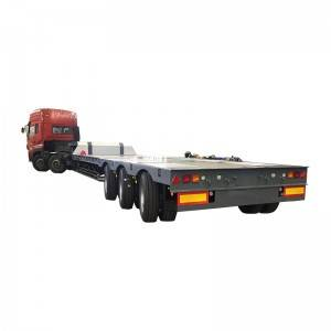 3 axle air bag suspension low loader trailer