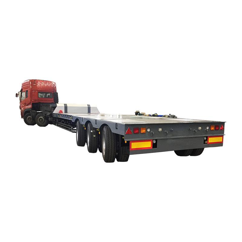 Factory selling Low Body Cargo Trailer - 3 axle air bag suspension low loader trailer – Vulcan