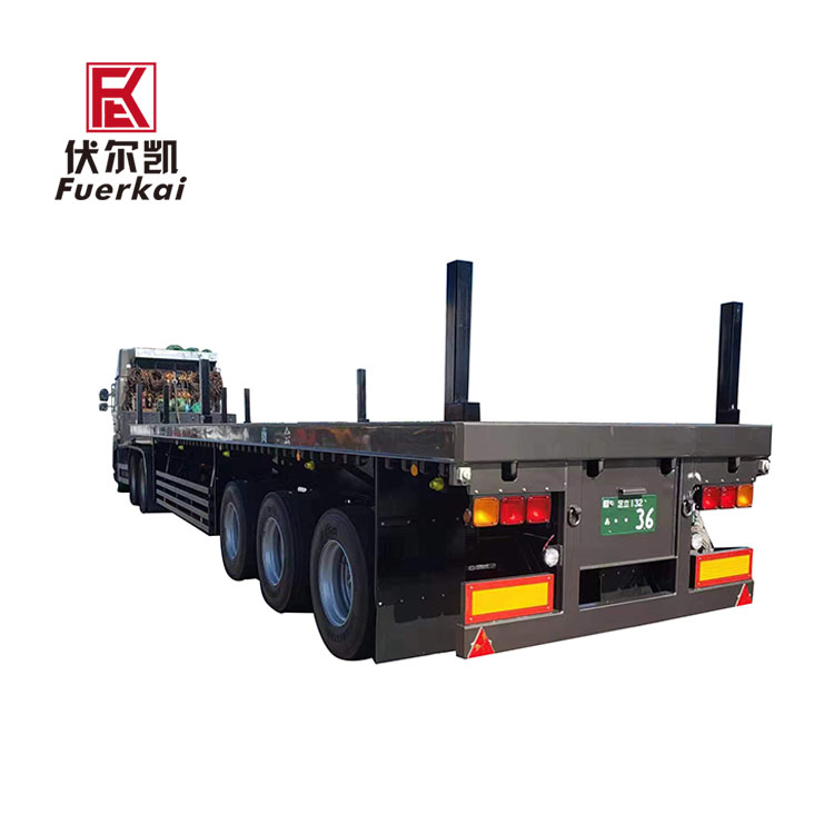 One of Hottest for Low Bed Semi Trailer Price – 3 axle air suspension precision transporter semi trailer – Vulcan