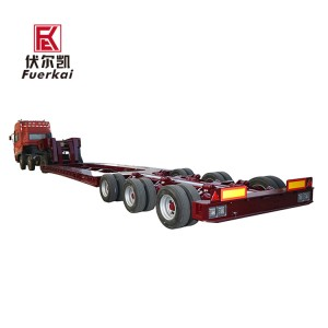 3 axle low platform semi trailer