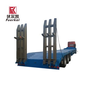 3 axle lowbed semi trailer with ladder