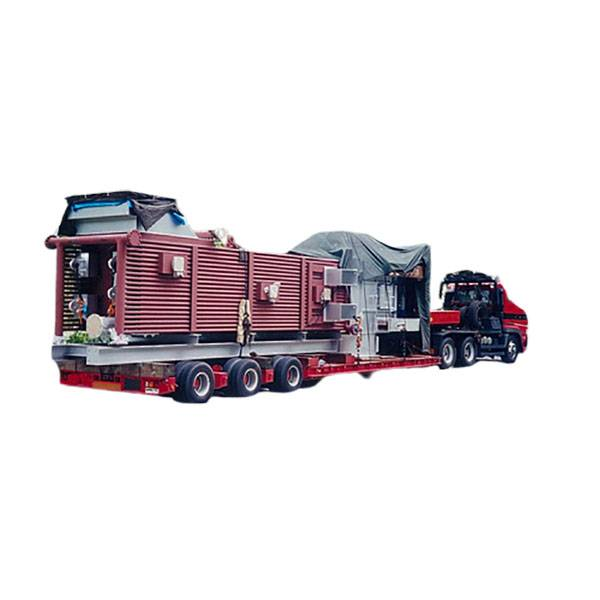 China wholesale Large Cargo Transportation Semi Trailer - 3axle,hydraulic gooseneck,heavy load-Large cargo transportation – Vulcan
