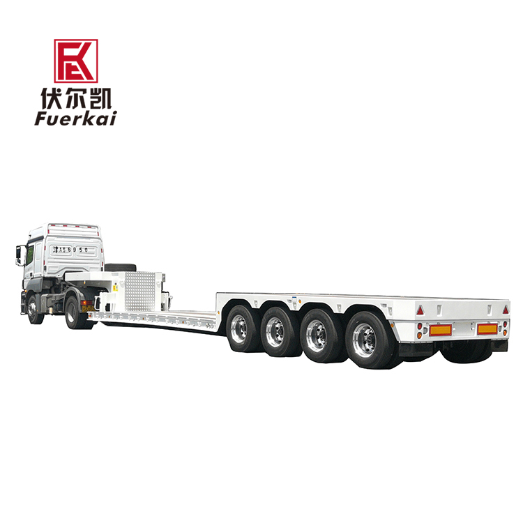 Best Price on Four 13t Fuwa Axles - 4 axle lowbed semi trailer – Vulcan