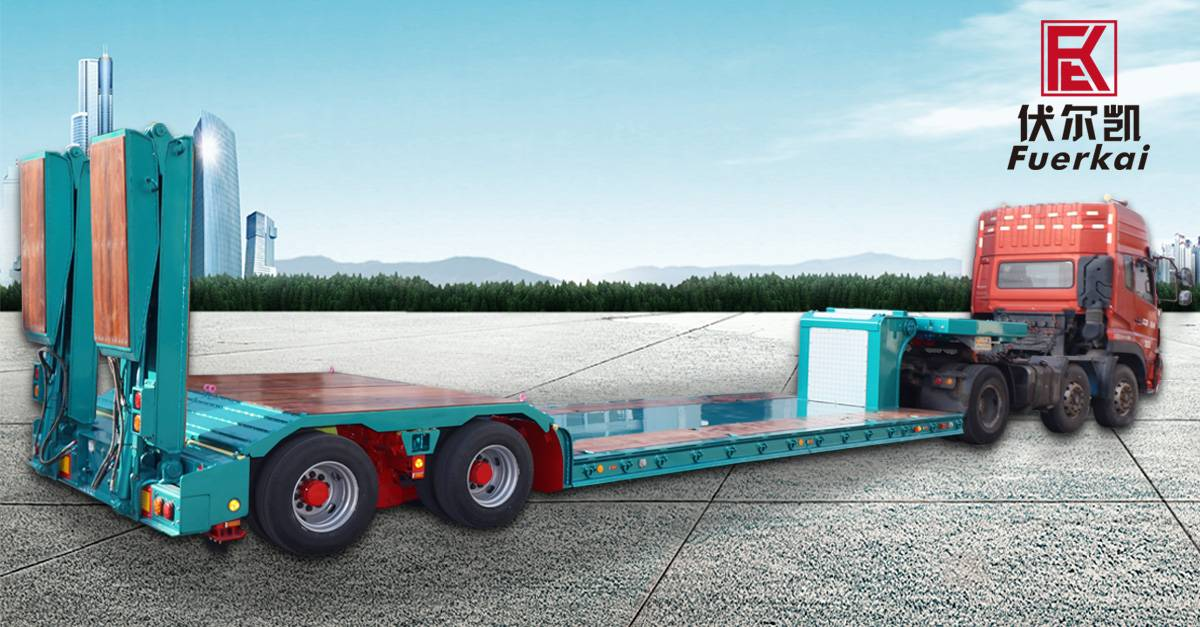 The characteristics and structure of low flat semi trailer