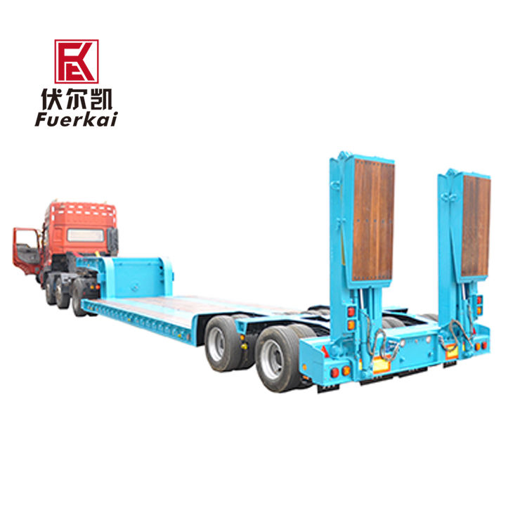 Chinese Professional 45ft Container Semitrailer - Hydraulic suspension low bed semi trailer – Vulcan