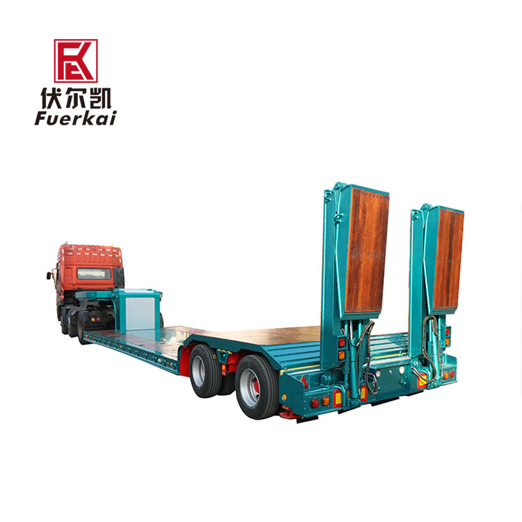 2019 China New Design Tractor Trailer Chassis - Precision instrument transporter hydraulic semi trailer – Vulcan