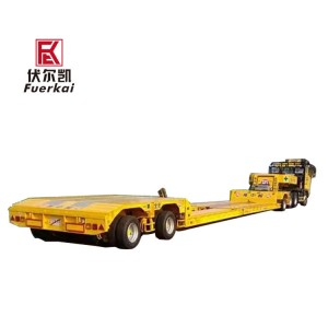Ultra-low flat bed semi-trailer