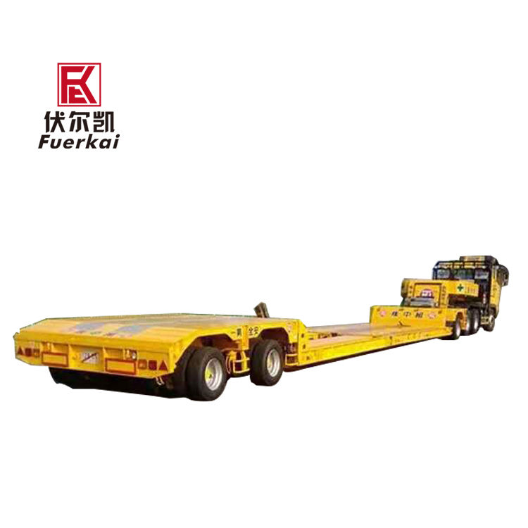 Factory wholesale Tri Axle Lowbed Trailers - Ultra-low flat bed semi-trailer – Vulcan