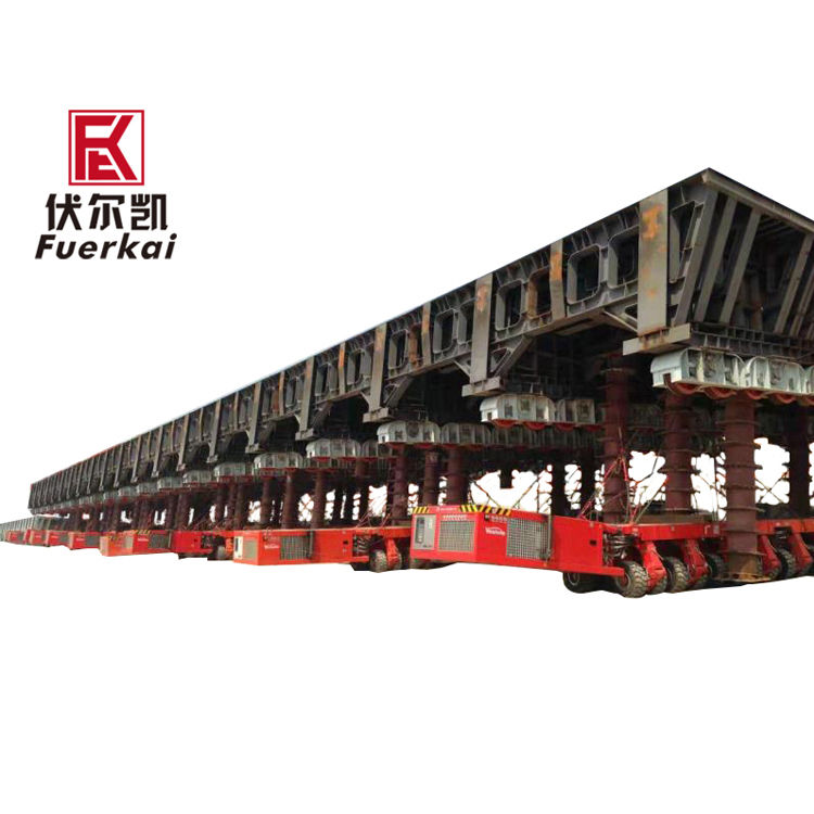 Factory wholesale 3 Axle Lowbed Semi Trailer - 3000ton,modular semi trailer,Boat transportation – Vulcan