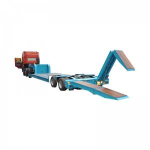 Factory Price Mining Construction - Low bed semi trailer with hydraulic ladder – Vulcan