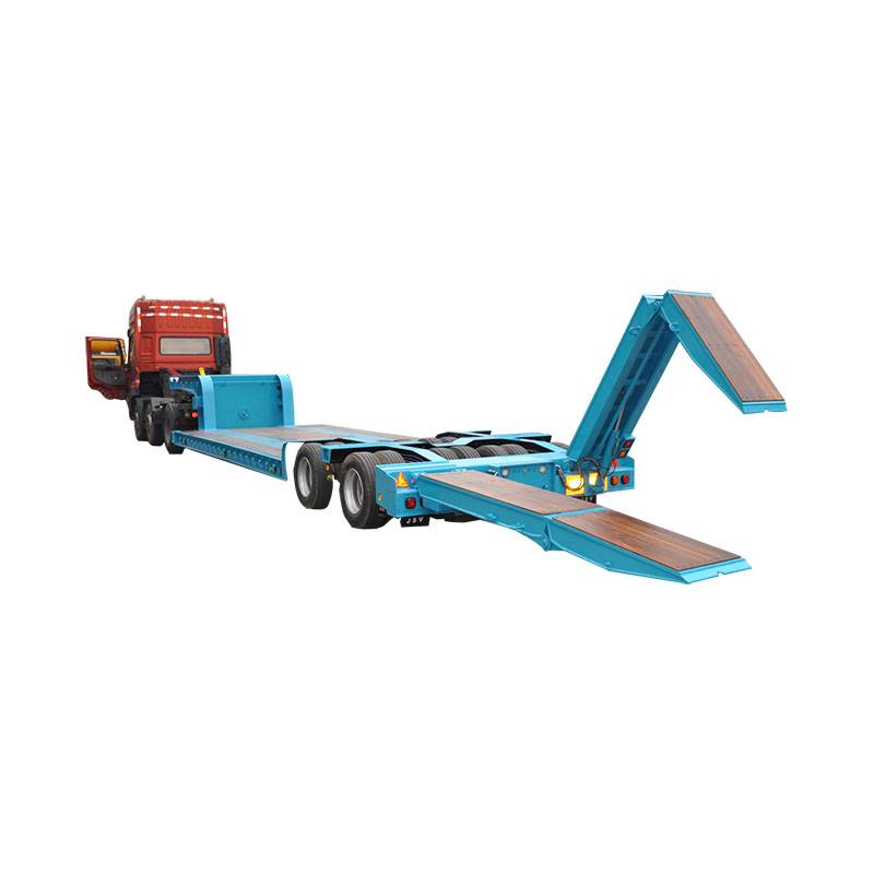 Factory Price Mining Construction - Low bed semi trailer with hydraulic ladder – Vulcan Featured Image
