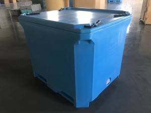 Hot New Products Blow Molded Cooler Box - 380L Insulated fish bin, pallet container – Wanma Rotomold