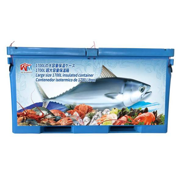 Chinese Professional Plastic Cooler With Handle - Extra large 1700L insulated fish tubs – Wanma Rotomold
