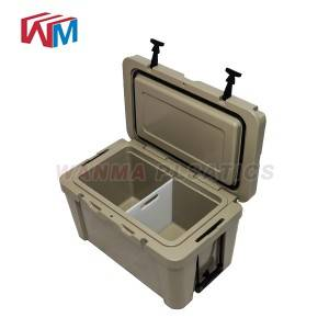 Short Lead Time for Wholesale Insulated Cooler Box - 65L Plastic insulated coolers ice box – Wanma Rotomold