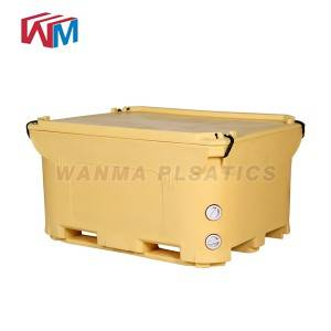 1000L  Insulated Pallet Container,ice box,fish ...