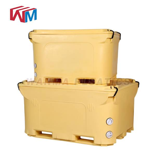 2018 Good Quality Rotomolded Fishing Cooler - 1000L  Insulated Pallet Container – Wanma Rotomold