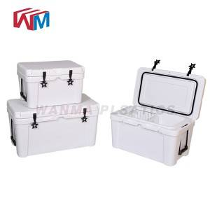 Chinese wholesale Wood Ice Bucket - 45L white Picnic Ice Box – Wanma Rotomold