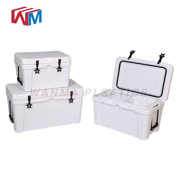 Factory making Vacuum Forming Cooler Boxes - 45L white Picnic Ice Box – Wanma Rotomold